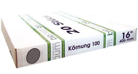 20 Schleifgitter 16 Zoll Körnung 100